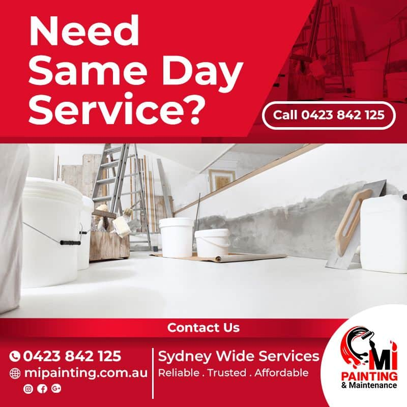 same day service - mipainting.com.au